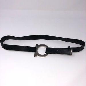 Salvatore Ferragamo silver Gancio Logo wrap belt